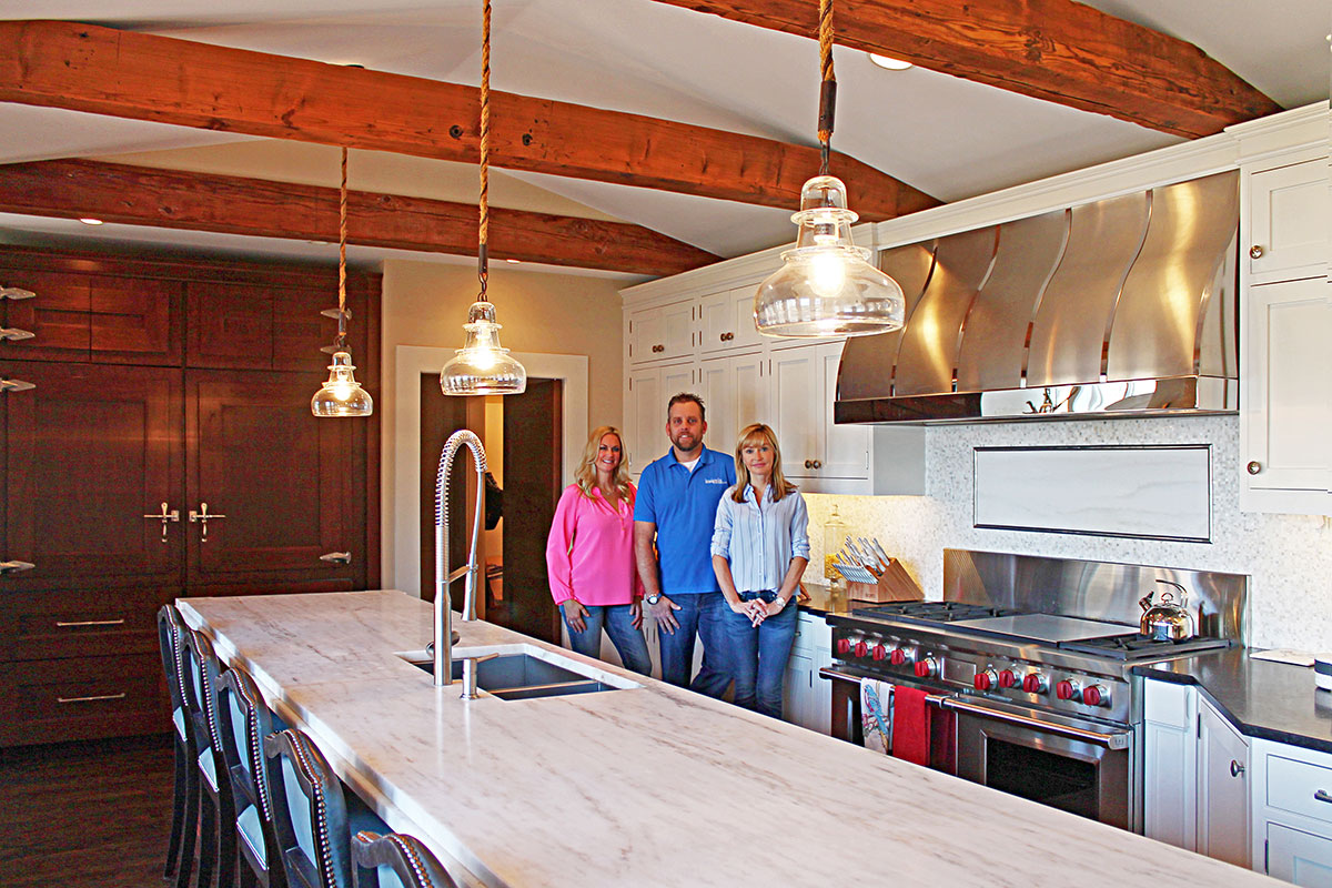 Insignia Client Cindy Kuesis Project Manager Ethan Axelson And Owner Designer Connie Schey
