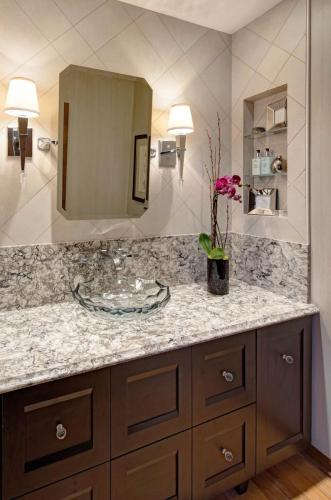 Transitional Clarity Powder Room
