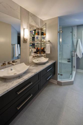 Sleek And Modern Master Bath