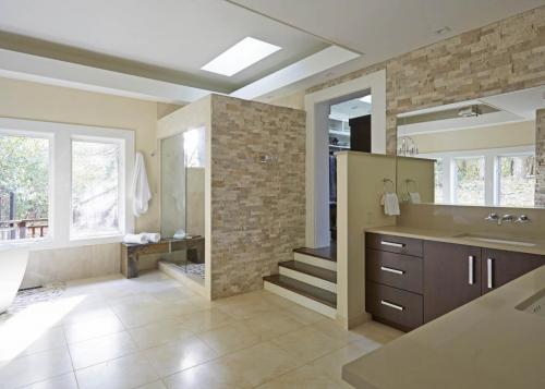 Spacious Modern Master Bath